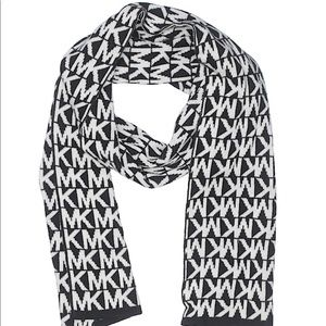 Michael Kors black and white scarf